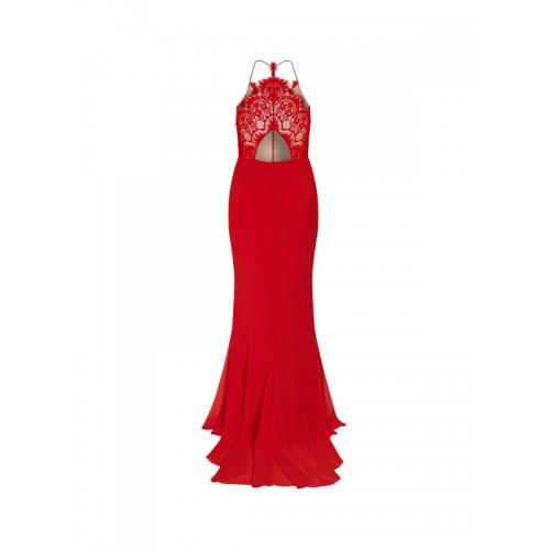 Next Red Self Pattern Maxi Dress