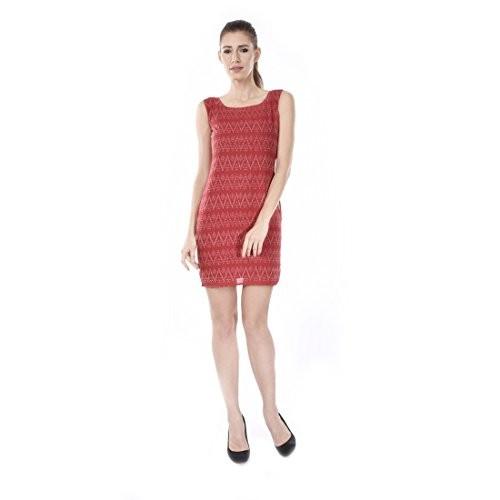 Trenditional Ikat/Sambalpuri Boat Neck Sleeveless Handloomcrape Light Red One Piece For Women'S