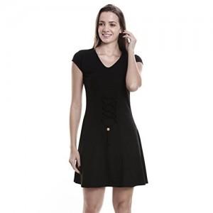 OCEAN RACE Women's Stylish Cotton A-Line Dress