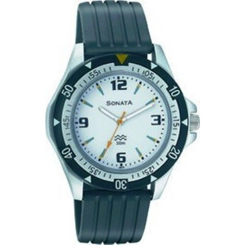 Sonata NF7930PP01J Black Synthetic Analog Dial Watch