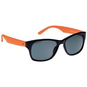 Fastrack Black & Orange Wayfarer Sunglasses