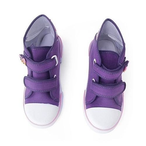 c3877487f336 ... Cute Walk by Babyhug Canvas Casual Shoes Butterfly Patch - Purple ...