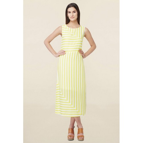 2490778fda Buy AND Yellow   White Striped Dress online