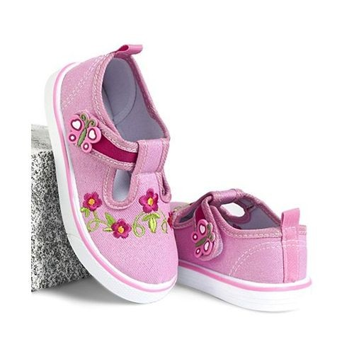 Cute Walk by Babyhug Casual Shoes Floral Embroidered - Light Pink