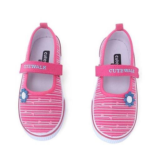 Cute Walk by Babyhug Casual Canvas Shoes Velcro Closure - Pink