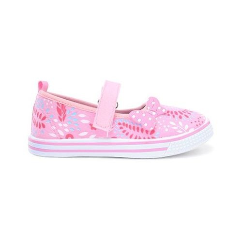 Cute Walk by Babyhug Canvas Shoes Bow Motif - Light Pink