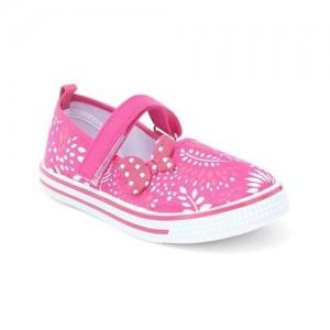 5a324f476938 Cute Walk by Babyhug Canvas Shoes Bow Motif - Fuchsia Pink