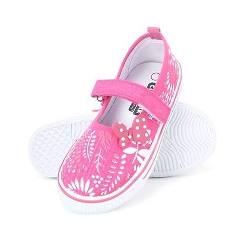 Cute Walk by Babyhug Canvas Shoes Bow Motif - Fuchsia Pink