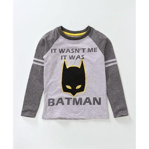 88ed693cd Buy Eteenz Full Sleeves Tee Batman Print - Black Grey online ...