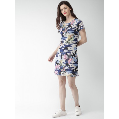 Mast & Harbour Women Multicoloured Printed A-Line Dress