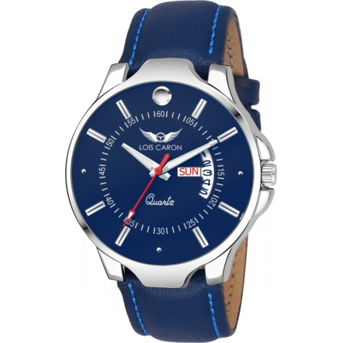Lois Caron LCS-8069 BLUE DIAL DAY & DATE FUNCTIONING Watch  - For Men