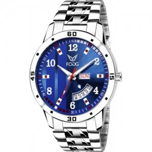 Fogg Printed Blue Day and Date Analog Watch