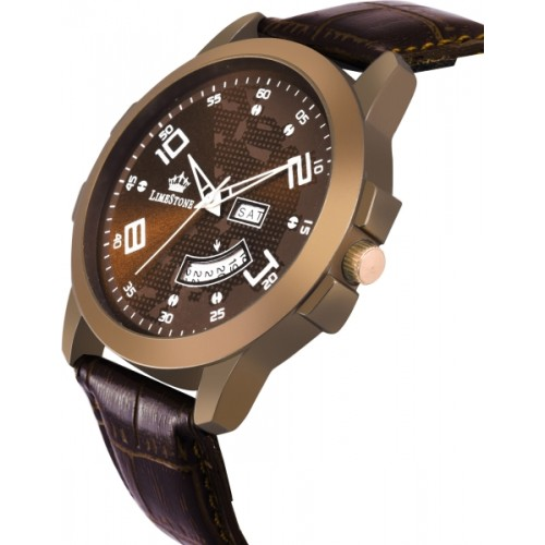 LimeStone LS2738 Globe Day and Date Functioning Analog Watch  - For Men