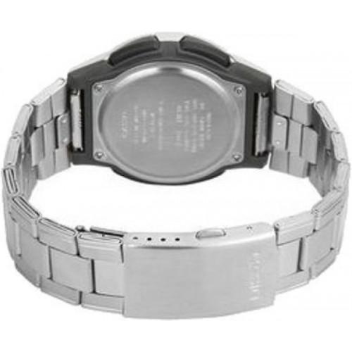 Casio AD60 Round Stainless Steel Analog-Digital Watch