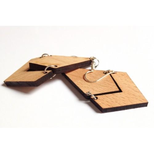 Jaamsoroyals Wooden Earrings Wood Drop Earring