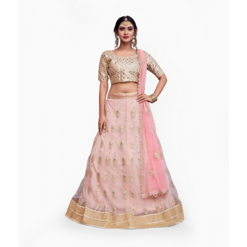 79d18d364c ... Rozy Fashion Embroidered Semi Stitched Lehenga, Choli and Dupatta Set  ...