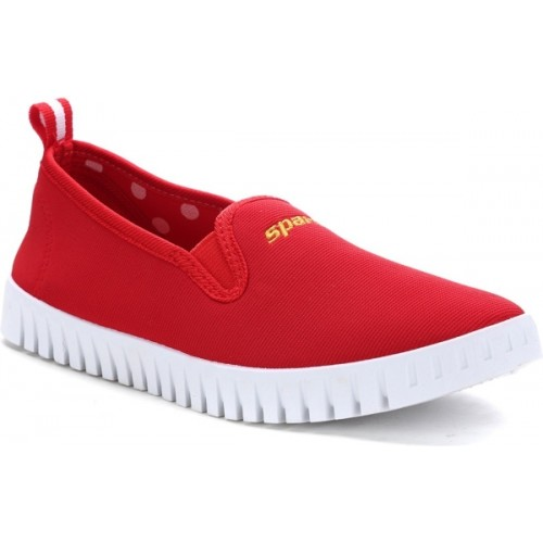 Sparx  Red & White Synthetic Slip-on Casual Shoes