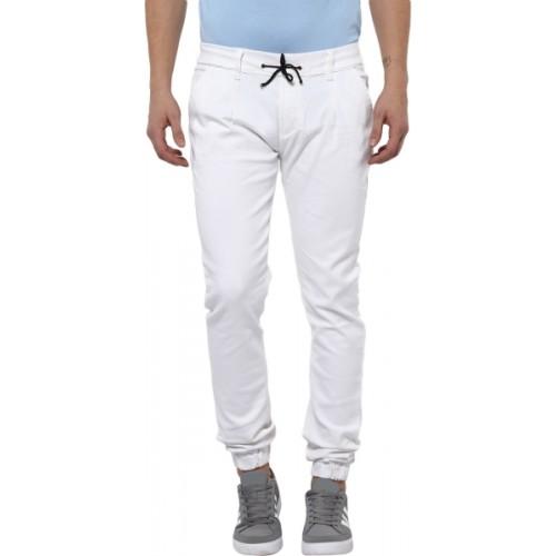 eb1e9f31b69f Buy Urbano Fashion White Cotton Lycra Slim Fit Jeans online ...