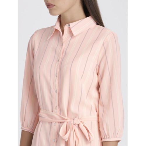 Chemistry Peach Striped Shift Dress
