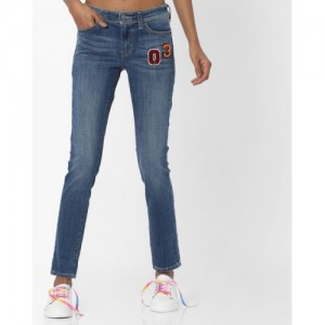 Levis Blue Skinny Fit Mid-Rise Clean Look Stretchable Jeans