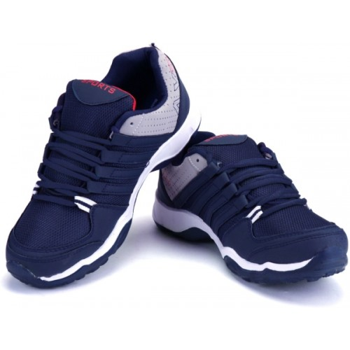 Earton Blue Synthetic Running Shoes For Men