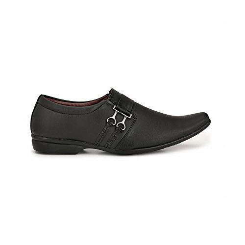 Gubatti Men's Black Formal Shoes For Men