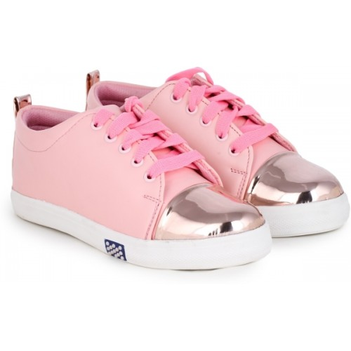 Moonwalk Pink Lace Up Sneakers