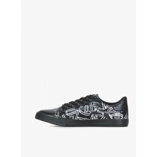 Flying Machine Brooze Black Sneakers