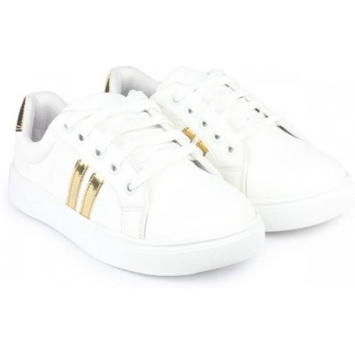 Earton White Canvas Sneakers
