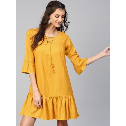 Sassafras Women Shift Yellow Dress