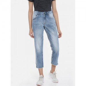 ONLY Women Blue Chad Fit Mid-Rise Clean Look Jeans
