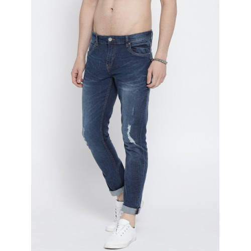 Roadster Men Blue Regular Fit Mid-Rise Mildly Distressed Stretchable Jeans