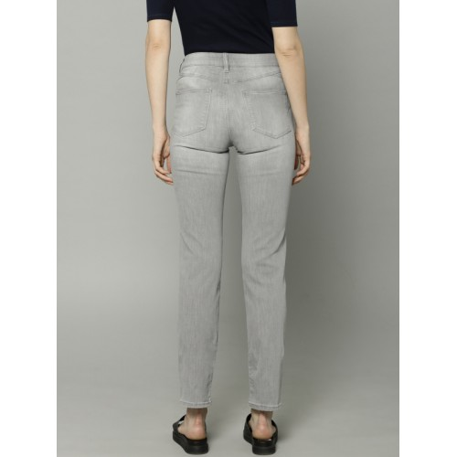 Marks & Spencer Women Grey Slim Fit Mid-Rise Clean Look Stretchable Jeans