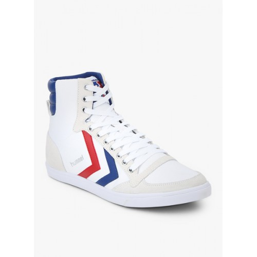 efb42af4481 Buy Hummel Slimmer Stadil High White Sneakers online | Looksgud.in