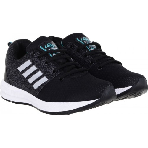 Lancer Black Mesh Lace-up Sports Running Shoes