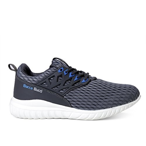 Bacca Bucci Men Casual Sports Shoes AIR Trainers/Gym Running Athletic Competition Sneakers -Grey