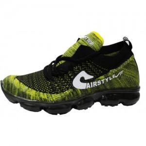 wholesale dealer 8f77e d935f Max Air Men s Sports Running Shoes 8880 Black Yellow