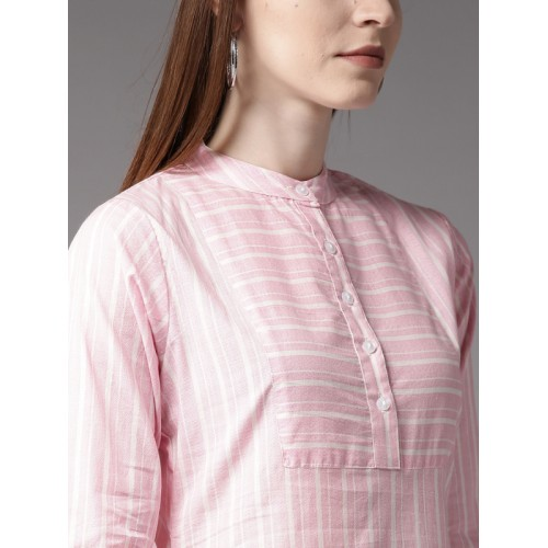 HERE&NOW Pink Striped Kurta