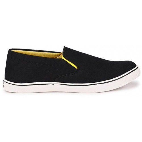 ZebX Black Casual Shoes