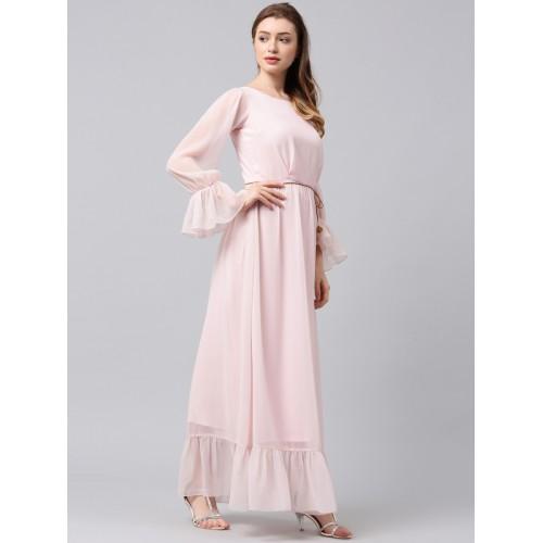 4c0a6bd8989e Buy Athena Women Pink Solid Maxi Dress online