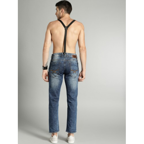 Roadster Men Blue Slim Fit Mid-Rise Clean Look Stretchable Jeans
