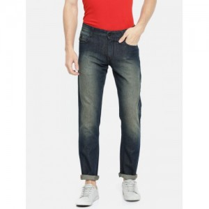 John Players Men Blue Slim Fit Mid-Rise Clean Look Jeans