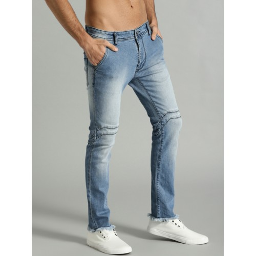 Roadster Time Travlr Men Blue Skinny Fit Mid-Rise Clean Look Stretchable Jeans