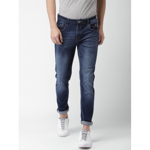 Harvard Men Blue Skinny Fit Mid-Rise Clean Look Stretchable Jeans