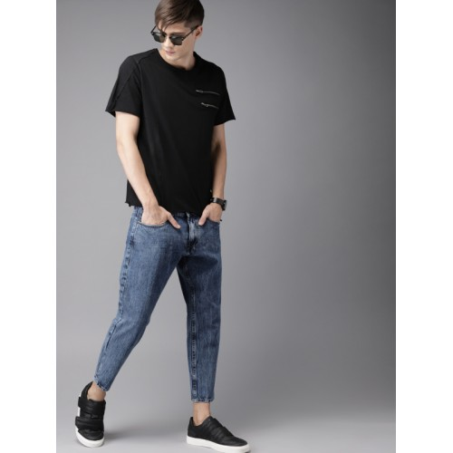Moda Rapido Men Blue Slim Fit Mid-Rise Ankle Length Clean Look Stretchable Jeans