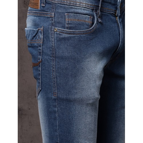 Roadster Men Blue Tapered Fit Mid-Rise Clean Look Stretchable Jeans