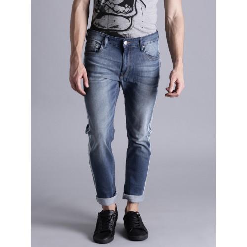 Kook N Keech Men Blue Slim Fit Mid-Rise Clean Look Stretchable Jeans
