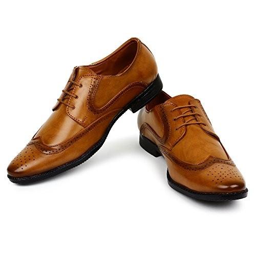 Buwch Men Brown Derby Laceup Shoe