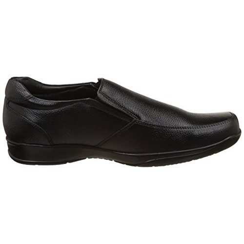 Red Chief Black Genuine Leather Slip on Formal Shoes