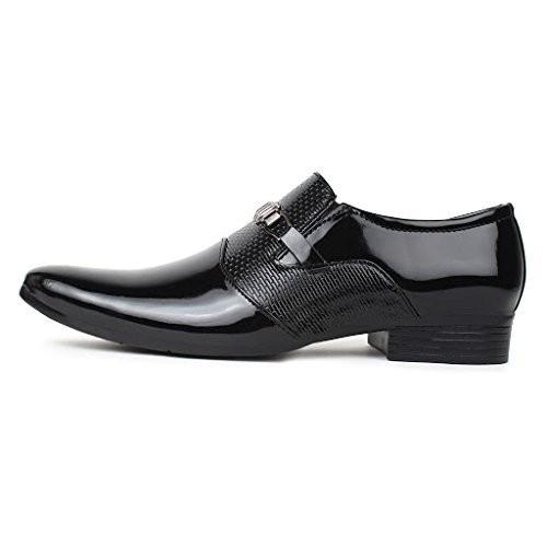 Red Rose Men's Black Partywear Formal Shoes